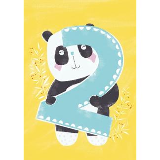 2nd Birthday Card - Panda
