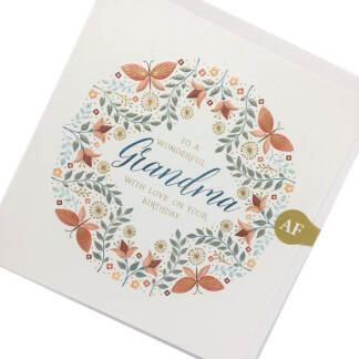 Grandma Birthday Card - Butterflies