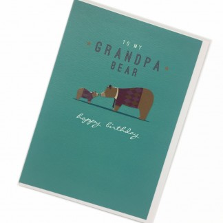 Grandpa Birthday Card - Bear