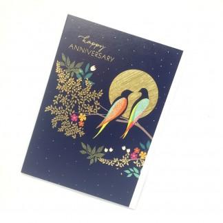 Happy Anniversary Card - Birds