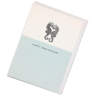 Happy Anniversary Card - Seahorses