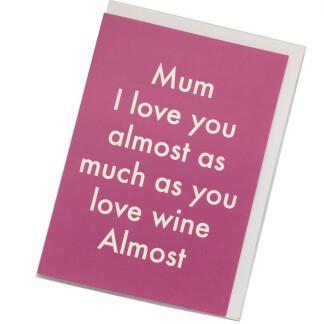Mum Birthday Card - Wine