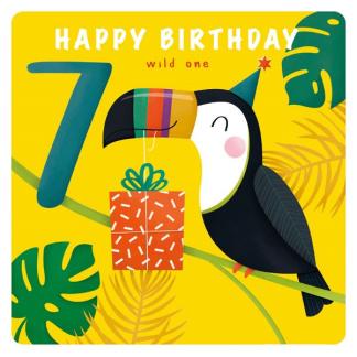 7th Birthday Card - Toucan