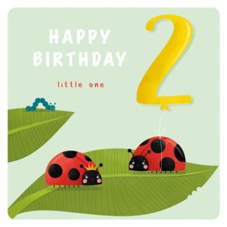 2nd Birthday Card - Ladybird