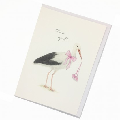 New Baby Card - Stork