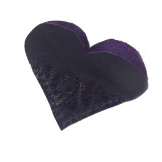 Purple Heart Leather Bookmark