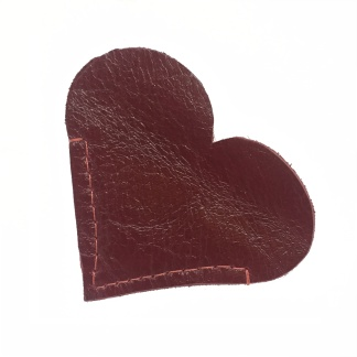 Red Heart Leather Bookmark
