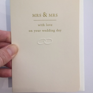 Wedding Card - Mrs & Mrs With Love