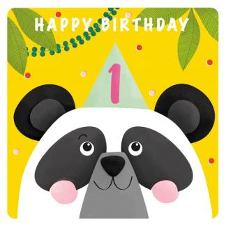 1st Birthday Card - Pug