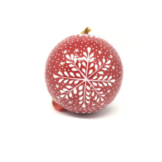 Red Snowflake Christmas Bauble