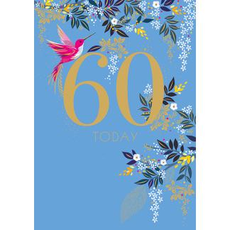60th Birthday Card - 60 Today