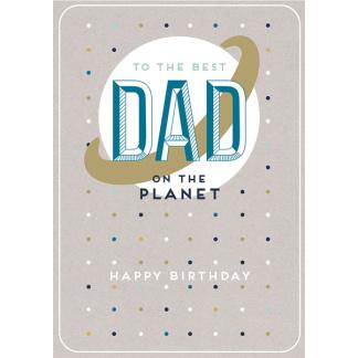 Dad Birthday Card - Planet
