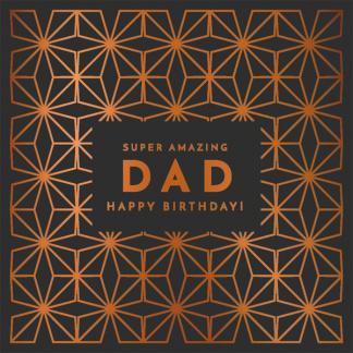 Dad Birthday Card - Super Amazing