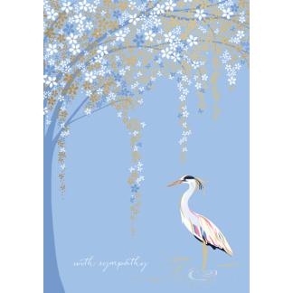 Sympathy Card - Stork