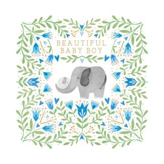 New Baby - Card - Elephant Boy