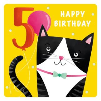 5th Birthday Card - Cat