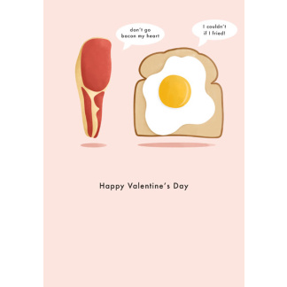 Valentine's Day Card - Bacon and Eggs