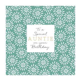 Auntie Birthday Card - Special Auntie