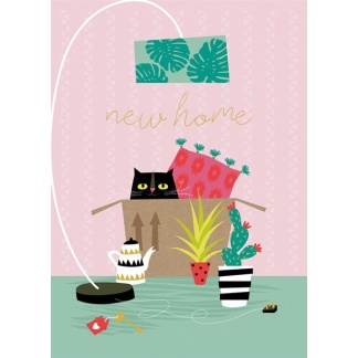 New Home Card - Cat Box