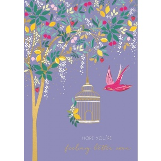 Get Well Card - Bird Cage