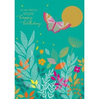 Mum Birthday Card - Butterfly