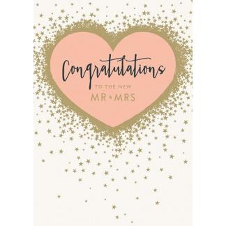 Wedding Card - Congratulations Mr & Mrs