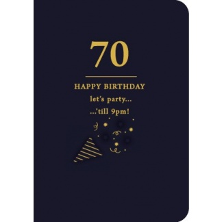 70th Birthday Card - Let's Party