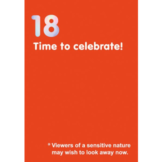 18th Birthday Card - Time to Celebrate