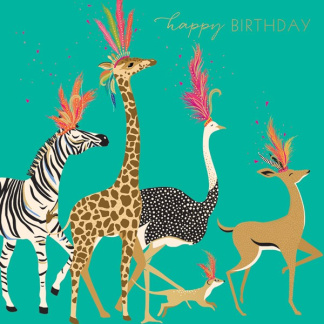 Birthday Card - Carnival Animals