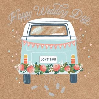 Wedding Card - Campervan