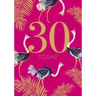 30th Birthday Card - 30 Today
