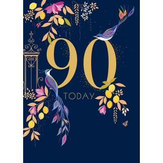 90th Birthday Card - 90 Today