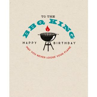 Birthday Card - BBQ King