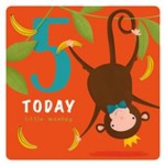 5th Birthday Card - Monkey