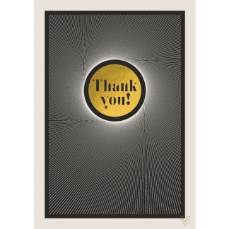 Thank You Card - Gold