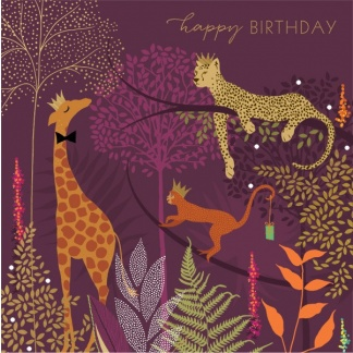 Birthday Card - Jungle Crowns