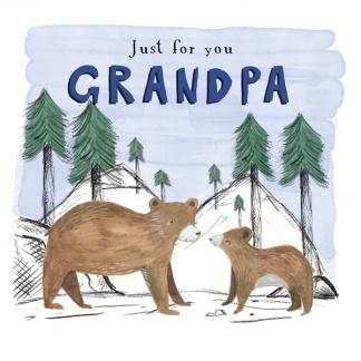 Grandad Birthday Card - Bears