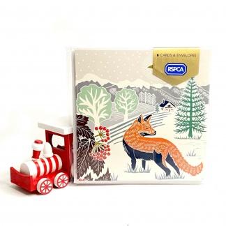 Charity Christmas Card Pack - Fox