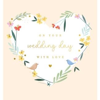 Wedding Card - Floral Spring and Birds